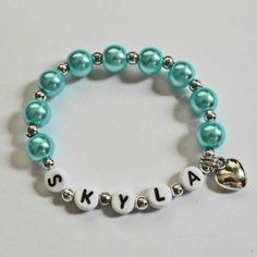 Name Bracelet Children's Jewelry PERSONALIZED by stargazinglily