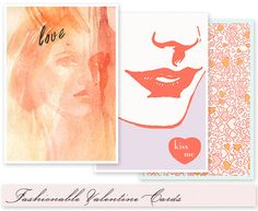 Valentine Freebie: Fashionable Valentine Cards - Home - Creature Comforts - daily inspiration, style, diy projects + freebies