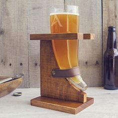 Personalized Horn Glass with Stand Perfect for Father's Day