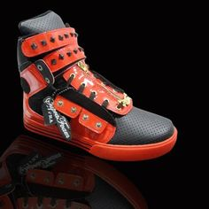 Supra Shoes TK Society Orange Black Sneaker