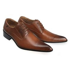 Amazon.com: MM/ONE Mens Pointed Business Shoes With Plain Toe Lace-up Style 2a1: Shoes