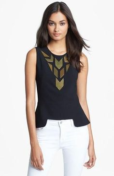 Amazing Rachel Roy peplum top.