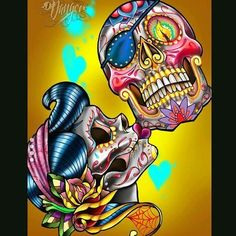 New design Sugar Skull Kiss. banner at this seasons ASD in Vegas and soon on bags and swag. New series of Danger sugar gypsies and Sugar Skulls coming out! Diamond Drawing, Diamond Art, 5d Diamond Painting, Tattoo Fairy, S Tattoo, Yakuza Tattoo, Samoan Tattoo, Polynesian Tattoos, Grey Tattoo