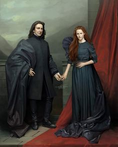 """""""Always."""" The couple that never was, and - Severus Snape and Lily Evans-Potter. Digital painting inspired… [Snape and Lily, Mirror of Erised. Arte Do Harry Potter, Harry Potter Severus Snape, Severus Rogue, Theme Harry Potter, Harry Potter Facts, Harry Potter Quotes, Harry Potter Fan Art, Harry Potter Universal, Harry Potter Fandom"""