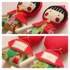 Custom personalized doll - Little Red Riding Hood rag doll with name of your choice. Stuffed toy.