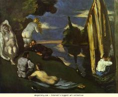 Paul Cézanne. Pastoral (Idyll). Olga's Gallery.