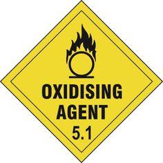 Oxidizing Agent 5.1 Diamond Label