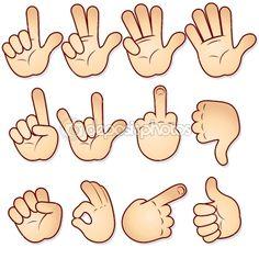 Cartoon hands — Stock Vector #8438546