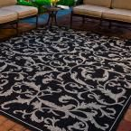 Safavieh Courtyard Black/Sand 2 ft. 3 in. x 14 ft. Indoor/Outdoor Runner-CY2653-3908-214 - The Home Depot