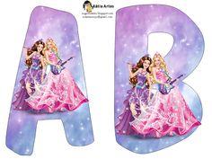 Alfabeto Barbie Princesa y Rock Star.