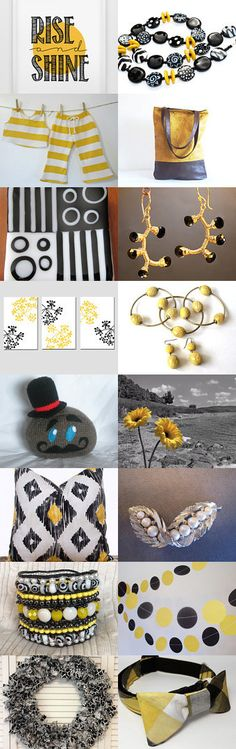 Yellow is to Black by Sue Green on Etsy--Pinned with TreasuryPin.com