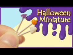 tutorial: mini Halloween lollipops