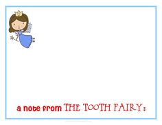 Tooth fairy official letterhead designed by sassy designs inc a note from the tooth fairy pronofoot35fo Choice Image