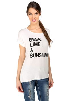 'Beer. Lime. & Sunshine.' Tee #eclipse