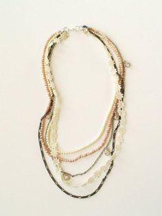DIY Necklace  : DIY Anthropologie Knockoff Beatrix Necklace