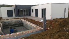 Vue maison avec piscine 4x9