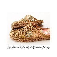 Basic crochet slippers attached Tailored Cord-Soles! ☂ᙓᖇᗴᔕᗩ ᖇᙓᔕ☂ᙓᘐᘎᓮ http://www.pinterest.com/teretegui