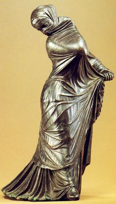 Veiled dancer, Hellenistic statuette (bronze), 3rd-2nd century BC, (Metropolitan Museum of Art, New York).