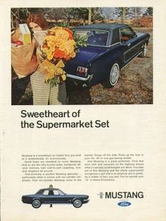 Ford Mustang 'Sweetheart of the Supermarket Set' advert.