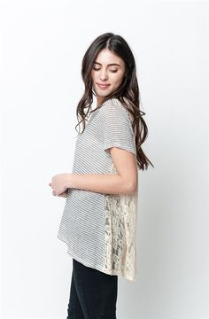 GroopDealz | Laced Button Back Tunic - 2 Colors!