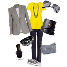 I am way to obsessed with gray and yellow.