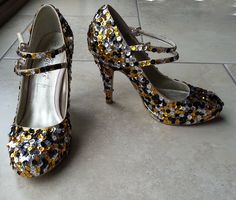 Sequin shoe DIY