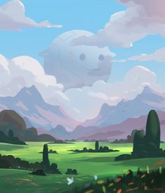 Mysterious Floater, Mark Pancham on ArtStation at https://www.artstation.com/artwork/mysterious-floater