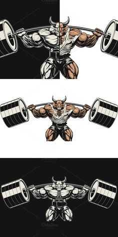 Vector illustration, strong ferocious bull holds the barbell on your shoulders Vector graphics Install any size without loss of quality. Eagle Wallpaper, Gorilla Tattoo, Fitness Logo, Fitness Shirts, Powerlifting Motivation, Bull Tattoos, Hd Phone Wallpapers, Gym Logo, Graffiti Murals
