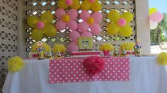 Pink and Yellow SpongeBob Party