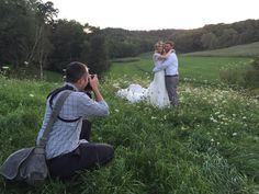 """A photographer's dream""...Brooke & Jared surrounded by Queen Anne's Lace flowers. www.justintrails.com Special thanks to Derek Montgomery Photography"