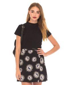 Wrap Skirt in Yin Yang by Motel