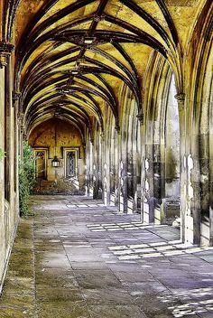 """""""A cloistered walkway surrounded the quadrangle on all sides..."""""""