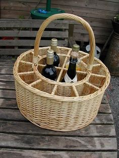 Picnic Baskets : Wine Baskets : Celebrations Party Wine and Glass Holder: