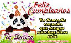 Feliz cumpleaños, yo deseo de corazón que tengas muchos años mas