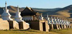 Erdene Zuu Monastery, established in 1568, was built near the ruins of Chinggis  Khan's imperial capital Karakorum.