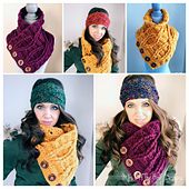 This is a PDF crochet pattern for a trendy cabled button up cowl! I used Bernat Roving with an 8mm hook to make this cowl soft and bulky! This is a must have cowl to keep you warm and looking stylish!