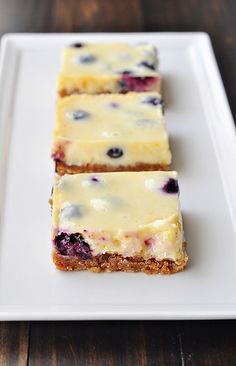 Lemon Blueberry Bars by Cook Like a Champion, these are my go - to dessert - ALWAYS a hit! Summer Desserts, Just Desserts, Delicious Desserts, Dessert Recipes, Yummy Food, Yummy Mummy, Summer Recipes, Lemon Blueberry Bars, Blueberry Recipes