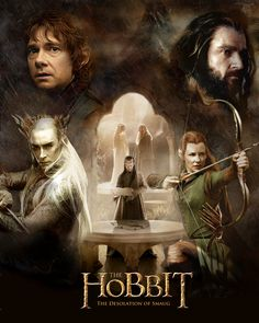 Poster I made for The Hobbit: The Desolation of Smaug. There are so many mistakes I made in some of the layering, but I learned so much about lighting, . The Desolation of Smaug Poster Hobbit Art, O Hobbit, Van Damme, Jrr Tolkien, Gandalf, Bilbo Baggins, Thorin Oakenshield, Middle Earth Books, Hobbit Desolation Of Smaug