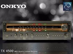 FROM THE ONKYO VAULT: Representing the class of '77 comes our TX 4500 MKII - the first stereo receiver with quartz-synchronization for FM (not to mention some pretty thick glass). 70th Anniversary website now to check out even more classic Onkyo models and learn about Onkyo's history. Hi End, Audio Room, 70th Anniversary, Boombox, Audio Equipment, Audiophile, Home Theater, Speakers, Nostalgia