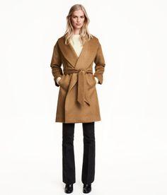 H&M wool blend camel colored coat.