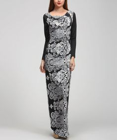 Take a look at this Black Paisley Drape Maxi Dress by BOLD & BEAUTIFUL on #zulily today! Great looking dress and a different look.