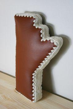 Manitoba Outline Decorative Pillow Accent by JoyfulHouseDesigns Unique Home Decor, Joyful, Accent Pillows, Hand Stitching, Outline, Decorative Pillows, Interior Decorating, House Design, Interiors