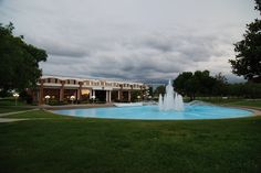 Millican Hall and Reflecting Pond on the UCF Campus