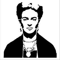 Frida Kahlo #4 laser-cut stencil by PearlDesignStudio on Etsy