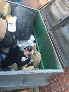 """Dumpster Diving with @EmilyWickersham."""