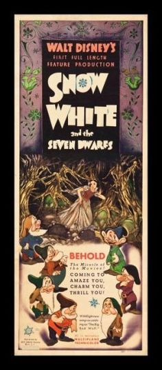 Snow White and the Seven Dwarfs movie poster.