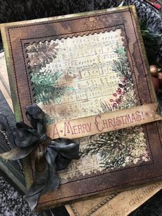 A Merry Christmas card Merry Christmas, Create Christmas Cards, Homemade Christmas Cards, Christmas Paper, Vintage Christmas Cards, Xmas Cards, Christmas Projects, Handmade Christmas, Holiday Cards