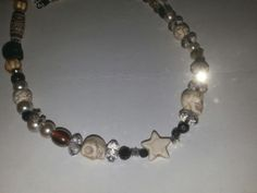 Shop for on Etsy, the place to express your creativity through the buying and selling of handmade and vintage goods. Skull And Bones, Custom Jewelry, Skulls, Chokers, Stars, Bracelets, Awesome, Creative, Handmade