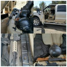PEU asegura en la carretera a Madera pick up con armas y municiones que delincuentes abandonaron donde realizaban un retén