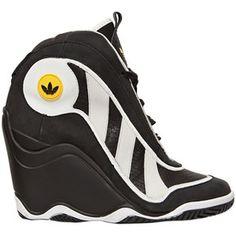 0f0a5238a47 ADIDAS ORIGINALS BLUE 100mm Crazy 97 Wedge Sneakers